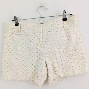 LOFT Eyelet Cotton Shorts 4